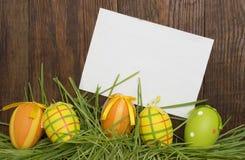 Пасхальные яйца Смешное украшение пасха счастливая Стоковое фото RF