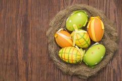 Пасхальные яйца Смешное украшение пасха счастливая Стоковое Изображение RF