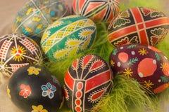 Пасхальные яйца с изображением Стоковое Фото