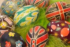 Пасхальные яйца с изображением Стоковая Фотография