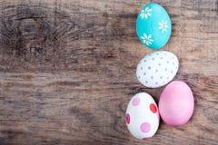 Пасхальные яйца украшения с космосом экземпляра пасха счастливая Стоковое Изображение