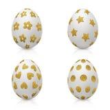 Пасхальные яйца украшенные с картиной золота Стоковое Изображение RF