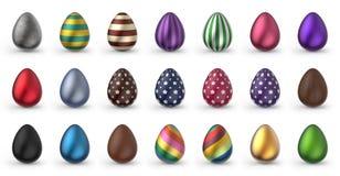 Пасхальные яйца установили 3D Стоковое Изображение