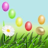 Пасхальные яйца цвета летания Стоковое Изображение