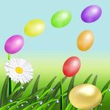 Пасхальные яйца цвета летания Стоковые Фото