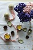 Пасхальные яйца шоколада Стоковые Изображения RF