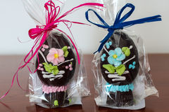 Пасхальные яйца шоколада handmade стоковое фото