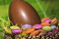 Пасхальные яйца paques Joyeuses Стоковая Фотография RF