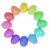 12 пасхальных яя в круге Стоковое Изображение