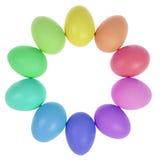 10 пасхальных яя в круге Стоковые Изображения RF