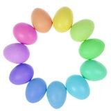 11 пасхальных яя в круге Стоковая Фотография RF