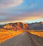 Патагония Аргентины. Солнце захода солнца стоковое фото