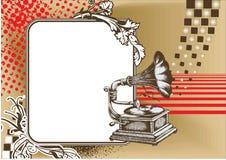 патефон иллюстрация штока