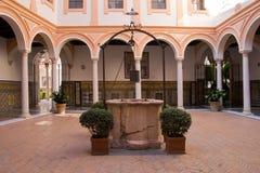 Патио в Museo de Bellas Artes Севилье Стоковое фото RF