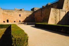 патио замока средневековое Стоковое Изображение RF
