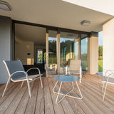 Патио и удобный комплект мебели Стоковая Фотография RF
