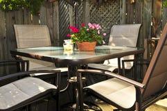 патио мебели палубы Стоковая Фотография