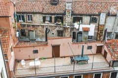 Патио на крыше в Венеции Стоковые Фото