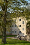 Патио на университетском кампусе Орхуса, Дании Стоковое фото RF