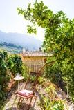 Патио дома Майорки балеарское в Балеарских островах Стоковая Фотография RF