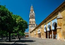 Патио De Лос Naranjos на соборе Mezquita Ла в Cordoba, Испании - месте всемирного наследия ЮНЕСКО стоковое фото rf