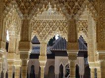 Патио de los Леон в Альгамбра granada Испания Стоковые Изображения RF