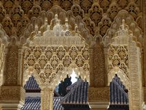 Патио de los Леон в Альгамбра granada Испания стоковая фотография