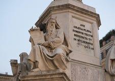 Патриарх Моисей Jacometti на основании столбца непорочного зачатия, Рима Стоковые Изображения