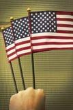 Патриотизм американских флагов Стоковые Изображения RF