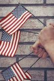 Патриотизм американских флагов Стоковое Изображение