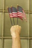 Патриотизм американских флагов Стоковые Фотографии RF