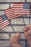 Патриотизм американских флагов Стоковое Изображение RF