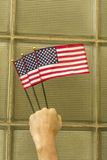 Патриотизм американских флагов Стоковое Фото