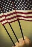 Патриотизм американских флагов Стоковая Фотография RF