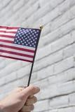 Патриотизм американских флагов Стоковые Фото