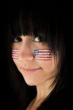 патриотическая женщина Стоковые Фотографии RF