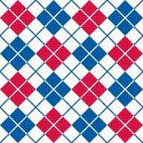 Патриотическая картина Argyle в красном, белом и голубом стоковая фотография rf