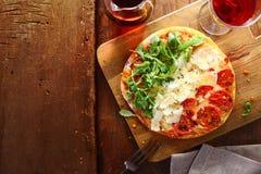 Патриотическая пицца итальянки tricolore стоковое фото rf