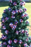 Патриотическая рождественская елка в Fort Myers, Флориде, США Стоковая Фотография