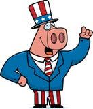 патриотическая свинья иллюстрация вектора