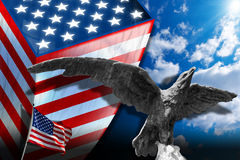патриотические символы США Стоковое фото RF