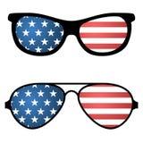 Патриотические солнечные очки с американским флагом иллюстрация штока