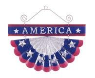 Патриотическим украшение изолированное украшением патриотическое американское Стоковые Фото