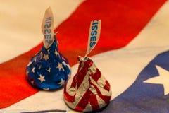 2 патриотических поцелуя Стоковые Изображения RF