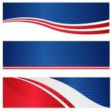 Патриотическое знамя сети Стоковые Фотографии RF