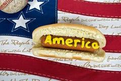 патриотическое собаки горячее Стоковое фото RF