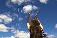 патриоты flyover nascar Стоковые Изображения RF
