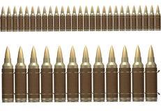 патронная лента коричневого цвета 3d Стоковое Фото