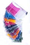 патроны опорожняют принтер inkjet чернил Стоковые Фотографии RF