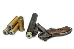 Патрон введен в изолированное оружие пирофакела бочонка, Стоковые Фото